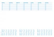 Schreibunterlage, 480x330mm, Blanko/Kalendarium, 30 Blatt
