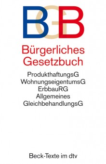 BGB Bürgerliches Gesetzbuch - Cover
