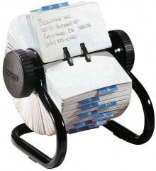 Rotationskartei Rolodex schwarz 102x57 mm mit 500 Karten