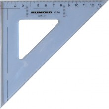 Rumold Zeichendreieck 45°, 20 cm, mm-Teilung, hochwertiger Kunststoff,