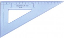 Rumold Zeichendreieck 60°, 20 cm, mm-Teilung, hochwertiger Kunststoff,