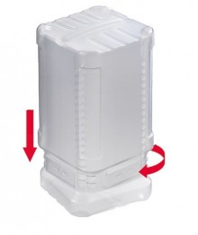 Block Pack m. TwistLock, 120-200mm transparent 35mm innen, PE,