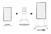 Flip Standfuß für Flip Display, fahrbar, 4 Rollen