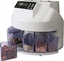 Münzzähler u. Sortierer 1250, grau, zählt u. sortiert 220 Münzen / Min.