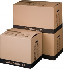 Umzugskarton Cargobox XS braun Innen 455x345x380mm Außenmaß:465x347x400mm