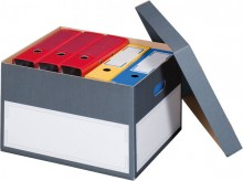 Archivbox mit separatem Deckel grau Innenmaß: 440x380x290