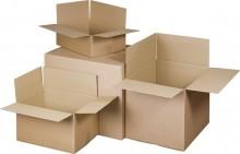 Versandkarton 2-wellig, braun, Innenmaß: 585x385x375mm