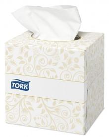 Kosmetiktücher Premium, 2-lagig, weiß, geprägt, im Spenderwürfel
