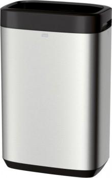 Abfallbehälter 50l, Edelstahl, Metall/Kunststoff,