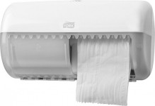 Spender für Kleinrollen Toiletten- papier, weiß, Kunststoff