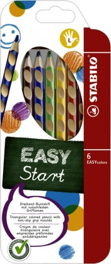 Dreikant-Buntstift EASYcolors 6er Etui, für Linkshänder