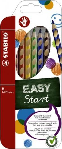 Dreikant-Buntstift EASYcolors 6er Etui, für Rechtshänder