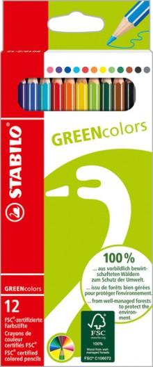 STABILO GREENcolors 12er Etui FSC-zertifizierter Buntstift