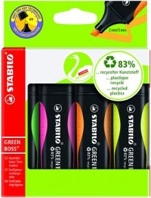 Textmarker Stabilo Green Boss 2-5mm, nachfüllbar,