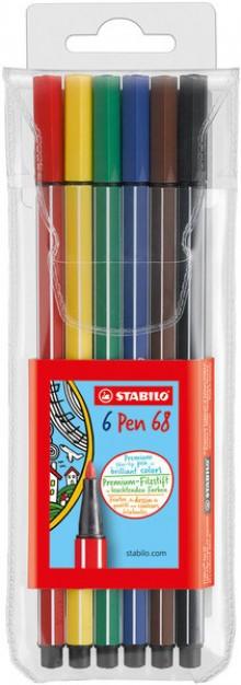 Faserschreiber Pen 6806/PL 6er Etui farbig sortiert