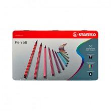 Faserschreiber Pen 68 50er Metalletui
