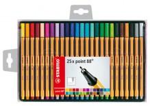 Stabilo point 88, Etui mit 25 Farben