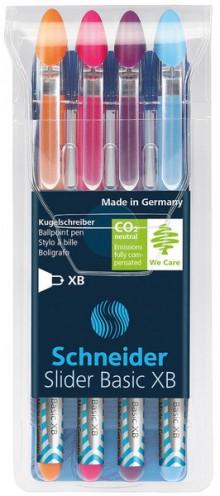 Kugelschreiber SLIDER Basic 1,4 mm Strichstärke XB, Visco Glide, colors
