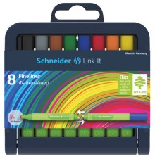 Fineliner Link-It, 8er Box, 0,4 mm