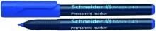 Schneider Permanentmarker 240 Rundspitze 1-2mm, blau,