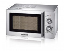 Severin Mikrowelle 7869 mit Grill Edelstahl-gebürstet, 900 Watt, 9
