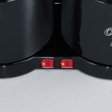Kaffeemaschine KA5828, schwarz, 2 x 8 Tassen, 2 Schwenkfilter,
