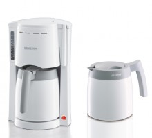 Kaffeemaschine KA9233, weiß/grau, bis 8 Tassen, Schwenkfilter,