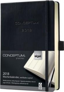 Wochenkalender Conceptum 1W/2S 2018 148x213x20mm, schwarz.