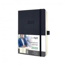 Tageskalender Conceptum 2020 schwarz Softcover (D/GB/F/NL) 1S/1T