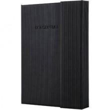 Notizbuch Conceptum ca. A6 liniert, schwarz, Softwave-Oberfläche.