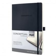 Notizbuch Conceptum, 80g, Softcover schwarz, liniert, Stiftschlaufe, DIN A4