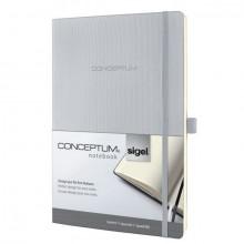 Sigel Notizbuch CONCEPTUM, 80g, Softcover light grey, kariert, Stiftschlaufe