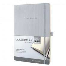 Notizbuch Conceptum, 80g, Softcover light grey, liniert, Stiftschlaufe, DIN A4