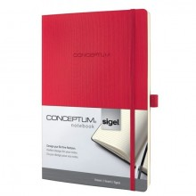 Notizbuch Conceptum, 80g, Softcover red, liniert, Stiftschlaufe, DIN A4