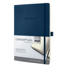 Notizbuch Conceptum, 80g, Softcover midnight blue, kariert, Stiftschlaufe, DIN A4