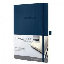 Notizbuch Conceptum, 80g, Softcover midnight blue, liniert, Stiftschlaufe