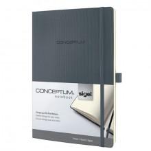 Notizbuch Conceptum, 80g, Softcover dark grey, liniert, Stiftschlaufe, DIN A4