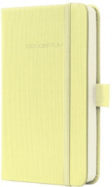 Notizbuch Conceptum, 80g, Hardcover Softwave-Oberfläche, Smooth Yellow, DIN A6 liniert