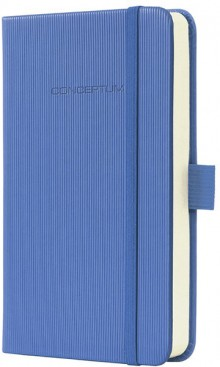 Notizbuch Conceptum, 80g, Hardcover Softwave-Oberfläche, Dust Blue, DIN A6 liniert