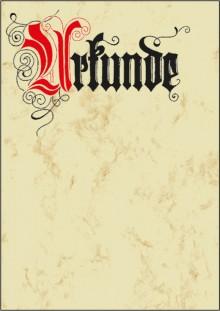 Motiv-Papier Urkunde Calligraphie A4 185g Edelkarton (Ink/Laser/Copy)