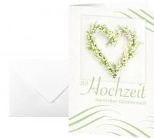 Motiv-Karten inkl. weiße Umschläge. Hochzeit, Glanzkarton,