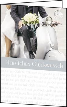 Motiv-Karten inkl. weiße Umschläge. Just Married, Glanzkarton