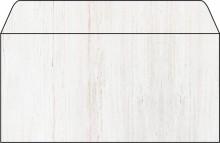 Umschlag DIN lang 90g Motiv: Holz gummiert, Spezialpapier, für I+L+K