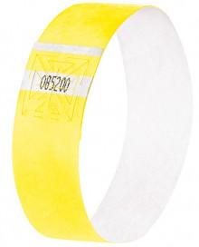 Eventbänder Super Soft fluoreszierend gelb 255x25 mm