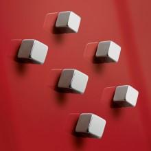 SuperDym-Magnet C5 Strong silber, vernickelt, hält bis zu 8 Blatt A4, Cube 6stk.