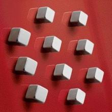 SuperDym-Magnet C5 Strong silber, vernickelt, hält bis zu 8 Blatt A4, Cube 10stk.