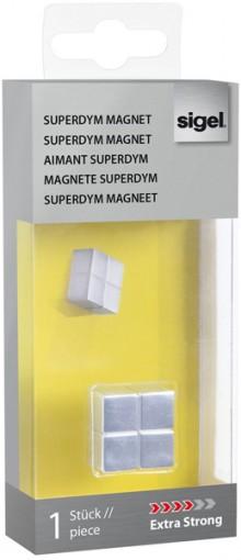 SuperDym-Magnet 20x10x20mm silber vernickelt, stark, hält bis zu