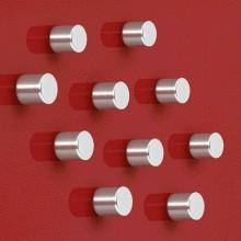 SuperDym-Magnet C5 Strong silber, vernickelt, hält bis zu 8 Blatt A4, Zylinder 10stk.