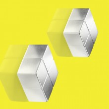 SuperDym-Magnet C10 ExtraStrong silber vernickelt, hält bis zu 15 Blatt A4, 2 stk.