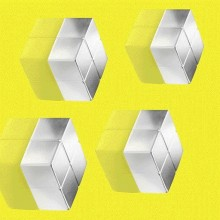 SuperDym-Magnet C10 ExtraStrong silber vernickelt, hält bis zu 15 Blatt A4, 4 stk.